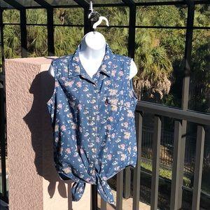 Levi's Retro Blue Jean Cotton Vest Size L